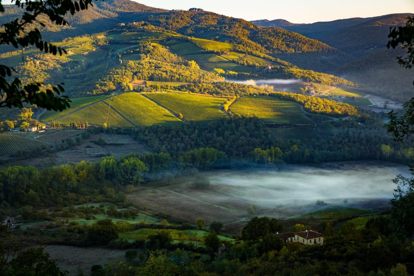 Rolling hills of Chianti, Italy